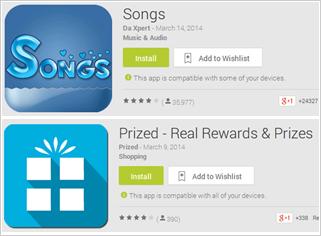 図3:Google Play上に存在した仮想通貨の発掘機能を備えた不正アプリ