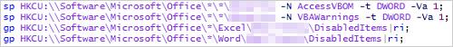 図2:レジストリ値を変更するスクリプト