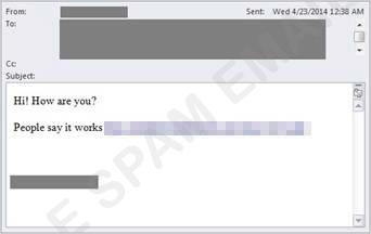 図1:AOL Mail を不正利用したスパムメールの例