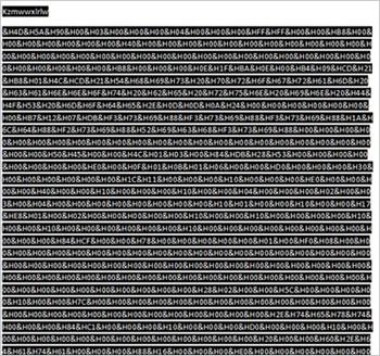 図2:空白に見える文書。しかし実際は、白のフォントを利用して不正プログラムのコードを隠ぺいしている