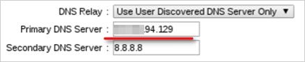 図7:ルータの DNS設定