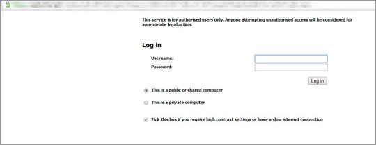 図5:ユーザがURLにアクセスすると、表示される画面の例