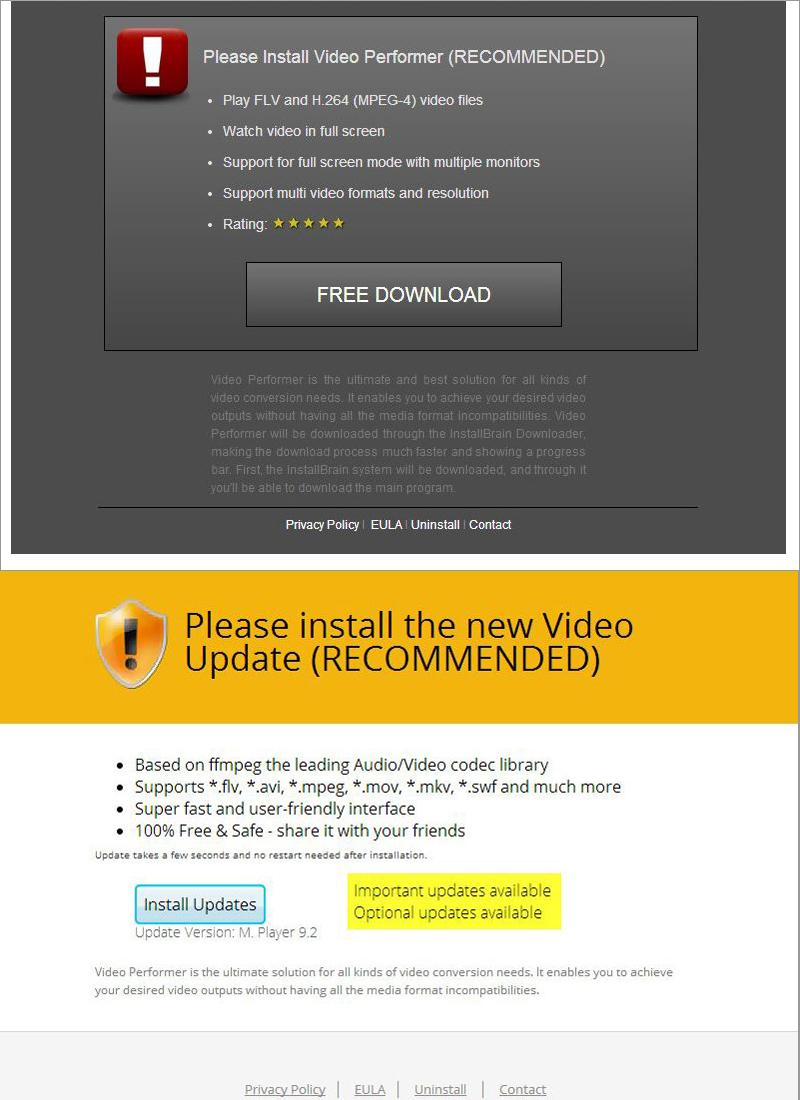 図3:動画ファイル管理ソフトのインストールを促す表示