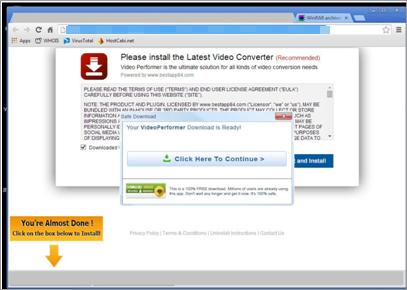 図3:動画変換ソフトをダウンロードするとうたうWebページ