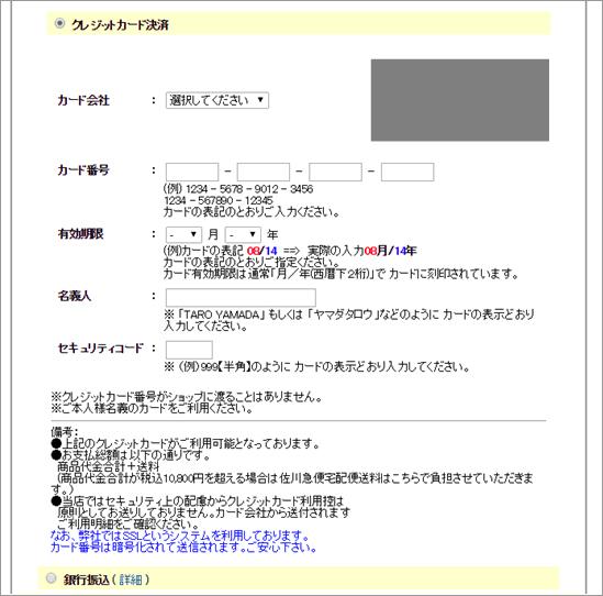 図3:Operation Huyao事例における[支払い方法]画面