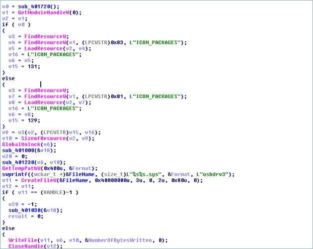 図10:「BKDR_WIPALL.B」のコンポーネント