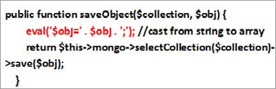 図2:moadmin.php 内の脆弱性を抱えたコード(パラメータ「object」)