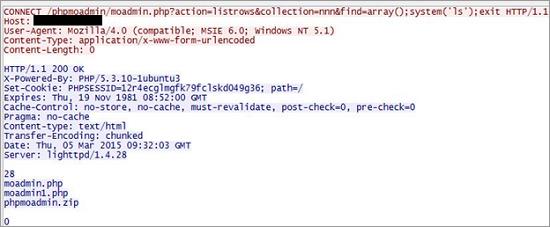 図3:パラメータ「find」を利用した場合の HTTPヘッダ
