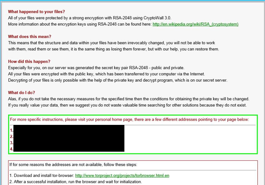 図3:身代金を要求する画面