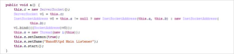 図5:NanoHttpd を組み込み HTTPサーバを変更する Moplus SDK