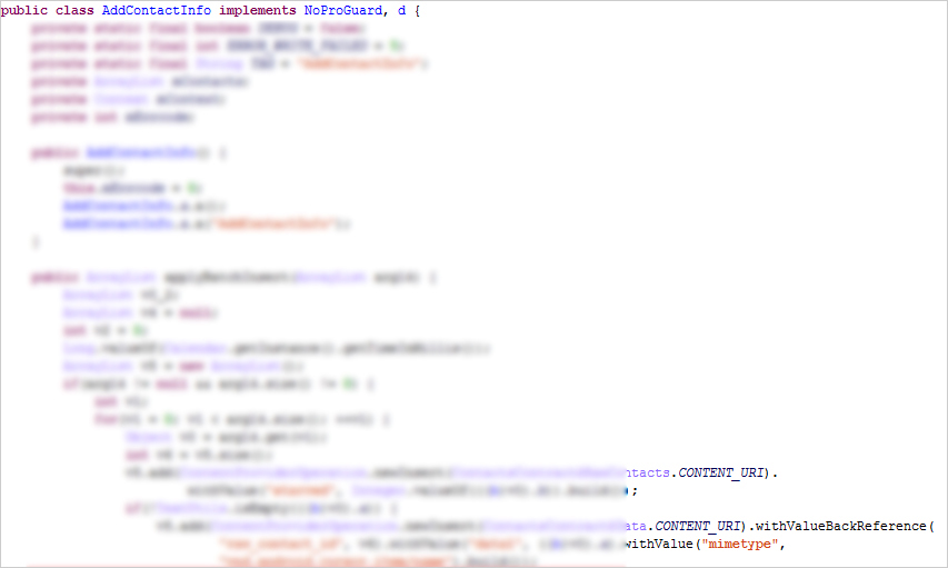 図11:バッチ処理で任意の連絡先を追加している例