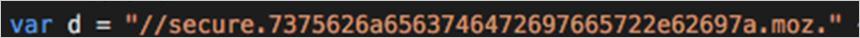 図6:「config.xml」内にある C&Cサーバの URL を暗号化した文字列の例