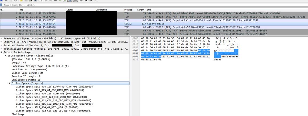 図1:脆弱性「DROWN」の影響を受けているか確認するツールによるスキャン状況の一例