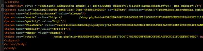 図2:挿入された SWFファイル