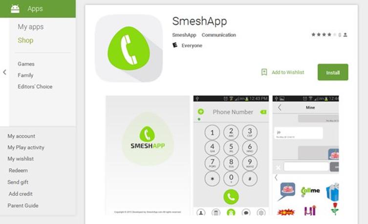 図2:SmeshAppのダウンロード画面