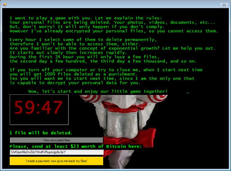 暗号化型ランサムウェアの新種 jigsaw が仕掛ける悪質なゲーム