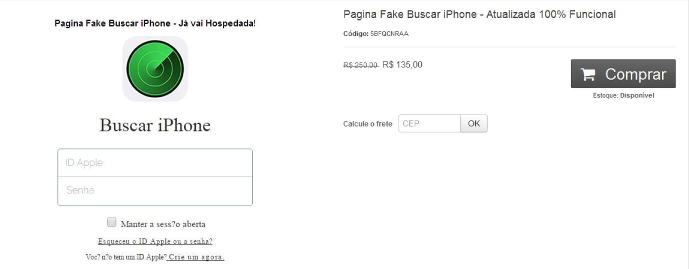 図3:ブラジルのアンダーグラウンドで確認されたiCloudのフィッシングページの広告