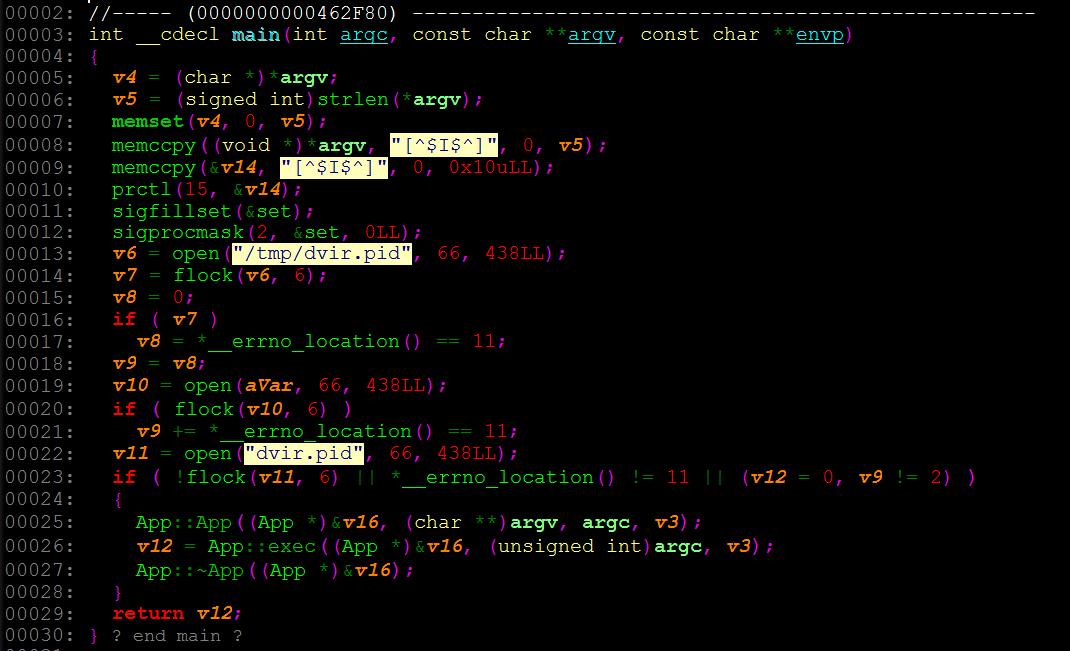 Monero 発掘ツールの「main()」関数をリバースエンジニアリングした擬似コード