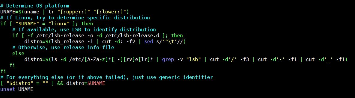 オペレーティングシステム(OS)を判定するコード