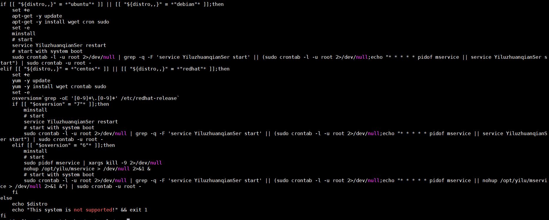「crontab」にジョブを登録することで活動を持続