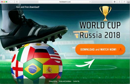動画ストリーミングアプリを提供しているように見える Web ページ
