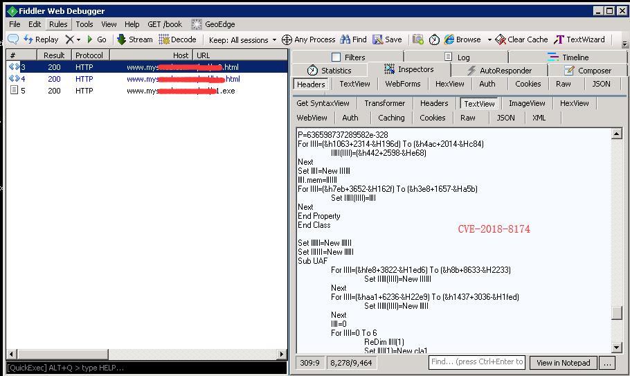 同じ Web サイトにホストされていた別のファイルが脆弱性「CVE-2018-8174」を利用