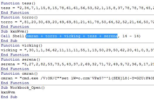 組み立てた文字列を Shell 関数で実行するマクロのコード