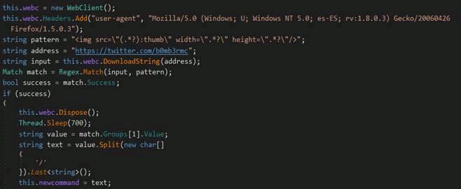 コマンドを抽出するコード