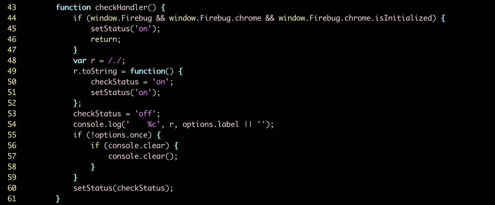 フィンガープリンティングを実行するコード