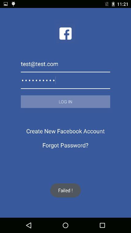 偽のFacebookログイン画面
