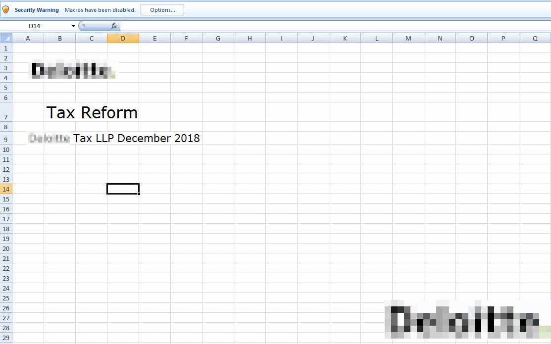 不正なマクロを含むEXCELファイル
