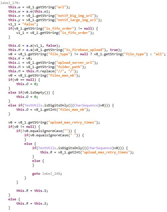 C&Cサーバからのコマンドを構文解析するコード