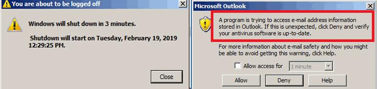 Outlookからメールアドレスを収集