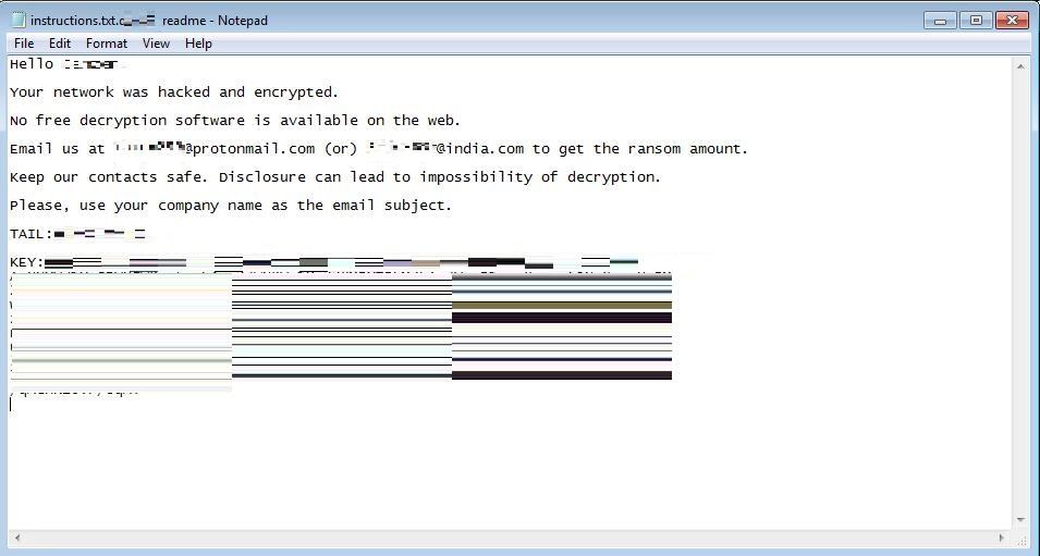 図2:「BitPaymer」の身代金要求文書