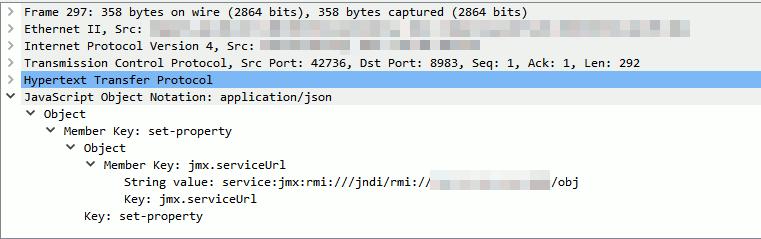 遠隔からJMXServiceを設定するPOSTリクエスト
