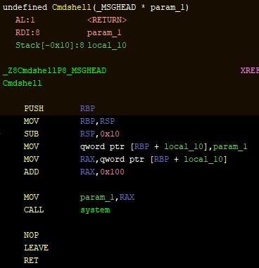 図3:遠隔からのシェルコマンドを実行するAESDDoSのコード