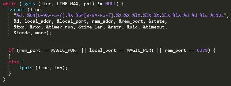 ネットワークトラフィックを偽装するコード