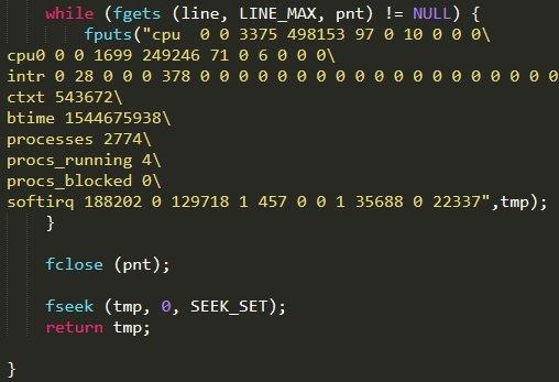 CPU使用率を偽装するコード