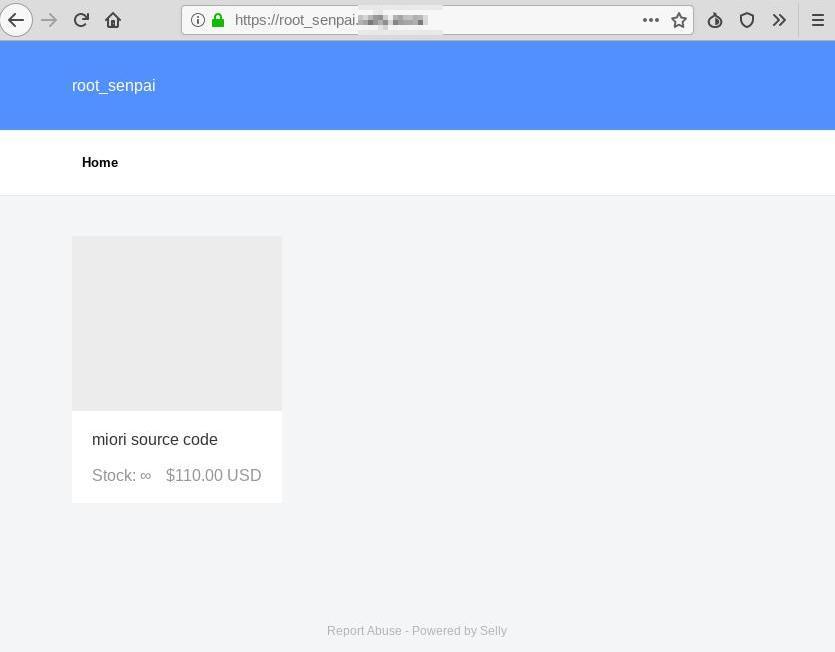 図9:「ソースコード販売サイト」の表示例