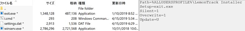 図12:抽出されたファイル